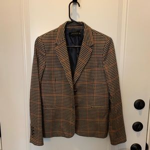 ZARA hacking jacket/plaid blazer